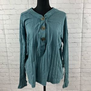 Free People In The Mix Knit Top Blouse